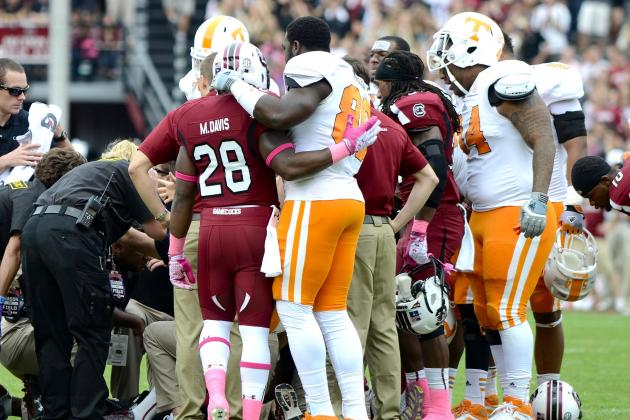 Gamecocks, Vols Win SEC Sportsmanship Award for Lattimore Injury Reaction