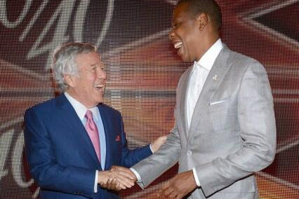 Robert Kraft and Jay-Z Look Like Best Buds at The 40/40 Club Celebration