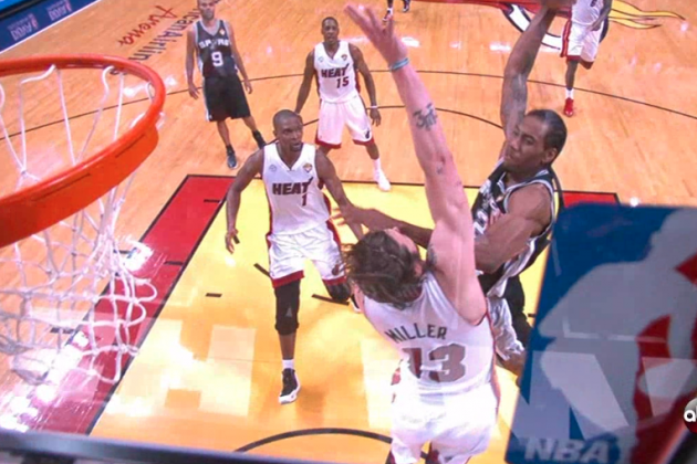 Video: Spurs' Kawhi Leonard Throws Down Poster Dunk on Heat's Mike Miller