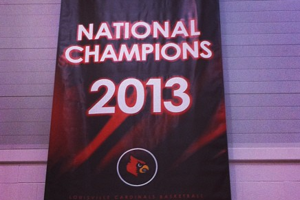 Photo: Louisville's Championship Banner Is Hanging in Practice Facility
