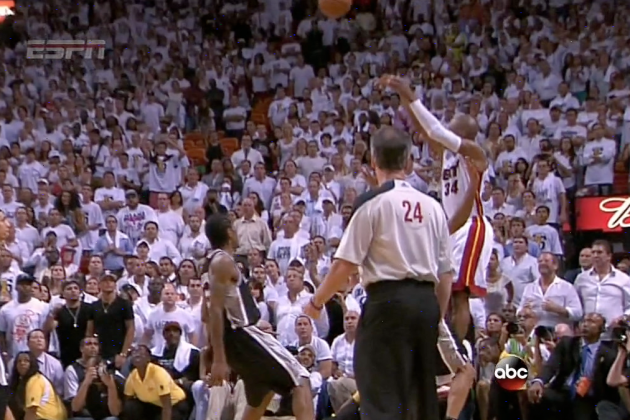 Ray Allen Sends Game 6 To OT With A Clutch Three