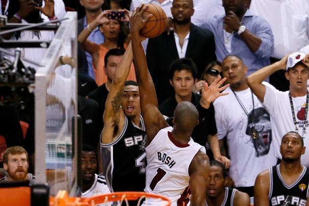 Chris Bosh Blocks Spurs Game 6 Comeback Attempt( Video)