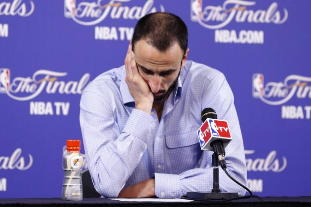 Ginobili on Game 6 Loss in Miami: 'I'm Devastated'