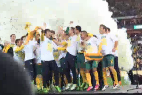 Australia Celebrating World Cup Qualification