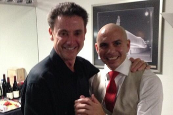 Rick Pitino and Rapper Pitbull Meet