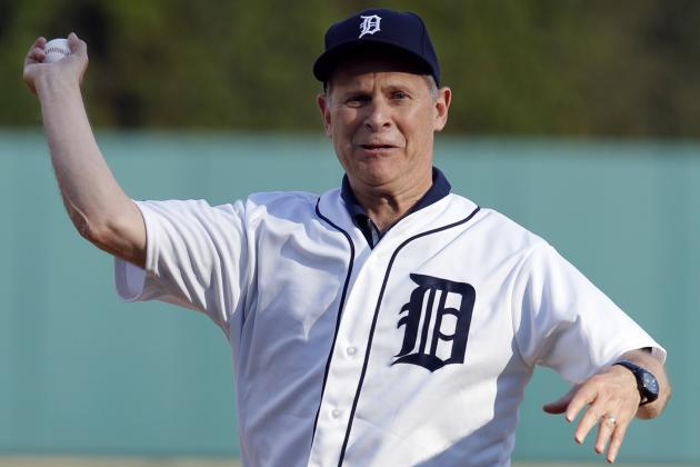 Video: U-M BB Coach John Beilein Threw out 1st Pitch at Comerica Park Last Night