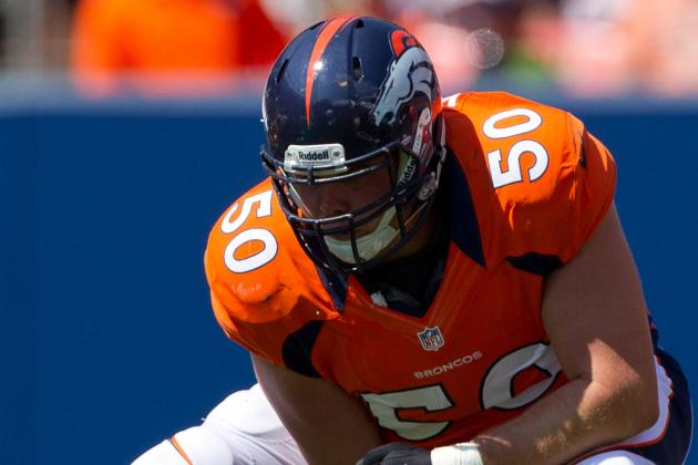 Broncos Center J.D. Walton to Miss Season Due to Ankle Surgery