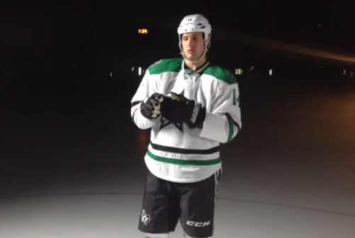 Watch: Jamie Benn Hits the Ice for the First Time in the New Threads!