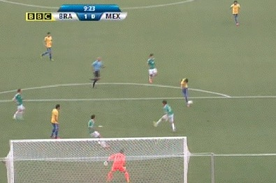 Neymar Volleys Brazil Ahead of Mexico Early in Confederations Cup (GIF)