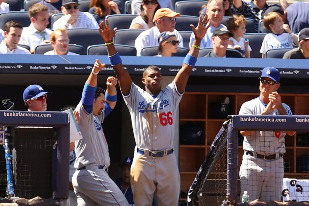Yasiel Puig's Home Run Leads Dodgers to DH Split with Yankees