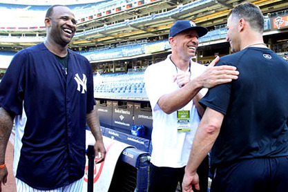 Jason Kidd Throws out First Pitch at Yankees Game
