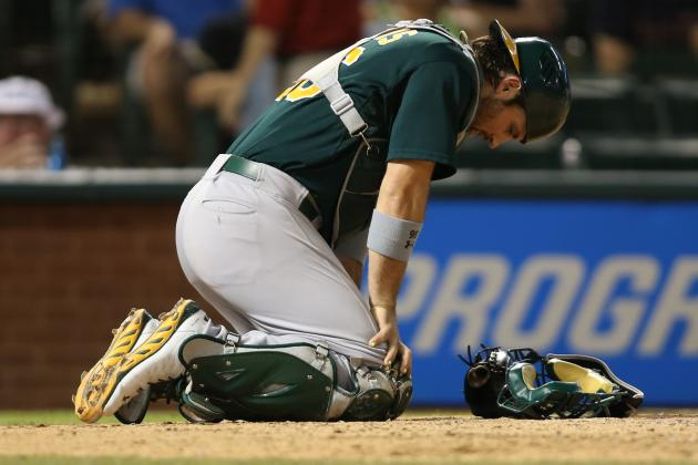 A's Pitchers Knocked Around in 9-4 Texas Victory