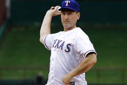 Supreme Court Justice Samuel Alito Tosses First Pitch at Rangers Game