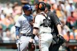 Giants, Padres Clear Benches Over Buzz Pitch