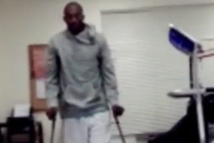 Instagram: Kobe Takes First Steps Without Boot