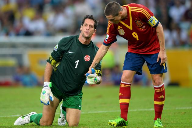 Fernando Torres Scores 4 for Spain but Watch his Missed Penalty and GK Reaction