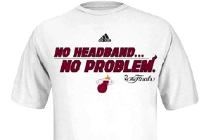 Don't Worry, You Can Now Buy Shoe-and-Headband-Themed Miami Heat Shirts