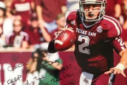 Photo: Johnny Manziel Sent a Signed Picture of Himself to Kliff Kingsbury