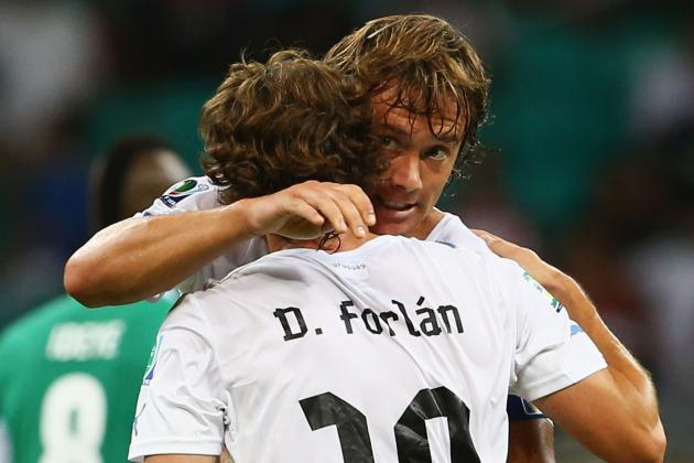 Centurion Forlan Shines as Uruguay Keep Confederations Cup Dream Alive