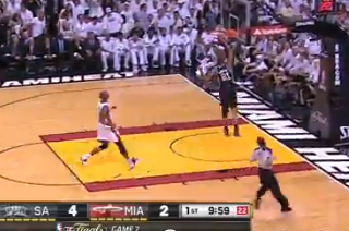 Tim Duncan Goes Coast-to-Coast for Fast-Break Dunk