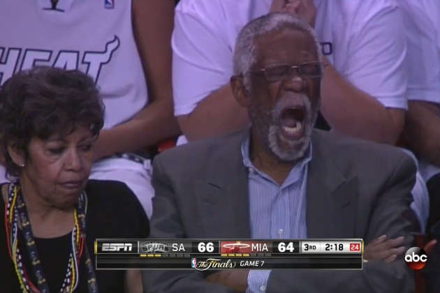 Bill Russell Is Not Excited by Game 7 of 2013 NBA Finals