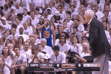 Is That a Warriors Fan With the Great Seats at Game 7 of NBA Finals?