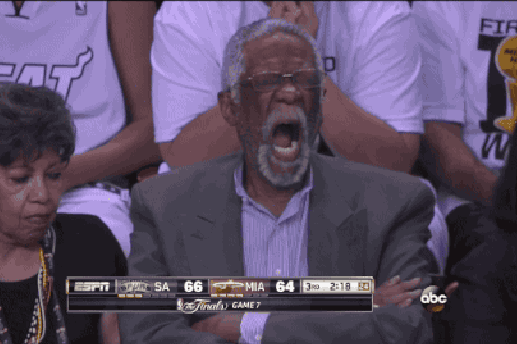 Bill Russell Doesn't Look Impressed With NBA Finals Game 7
