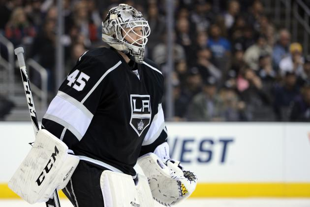 Jonathan Bernier: L.A. Kings Goalie Drawing Interest from Maple Leafs, Flyers