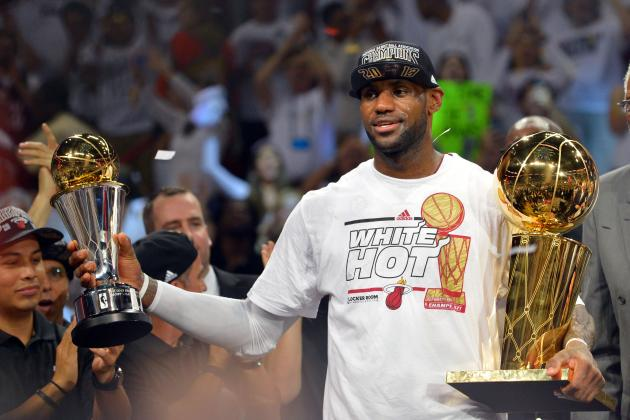 LeBron James Wins 2013 NBA Finals MVP Award