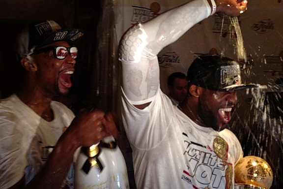 Instagram: LeBron and Bosh Celebrate Their 2nd Title