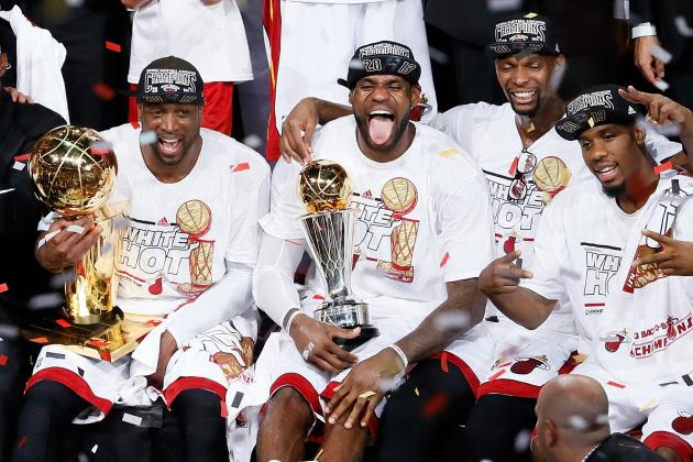 The Miami Heat Celebrate as 2013 NBA Champions