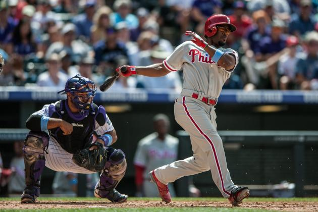 Rollins Keeps Contending Hopes Alive for Phillies