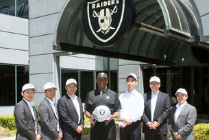Raiders Host Visitors from Japan
