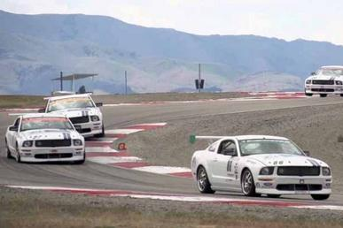 NASCAR Drivers Take Mustangs Around Utah Road Course