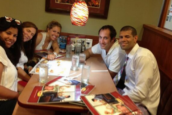 Shane Battier Celebrated the Miami Heat's NBA Championship at Denny's
