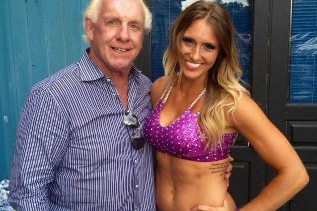 Flair's Daughter Debuts at NXT