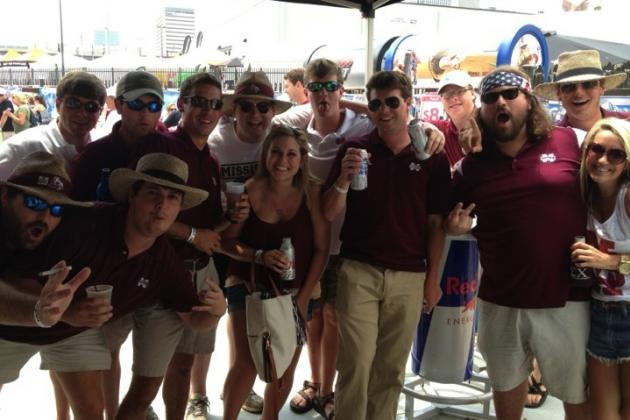 Mississippi State Fans Swarm Omaha; Cheer on Bulldogs to CWS Final