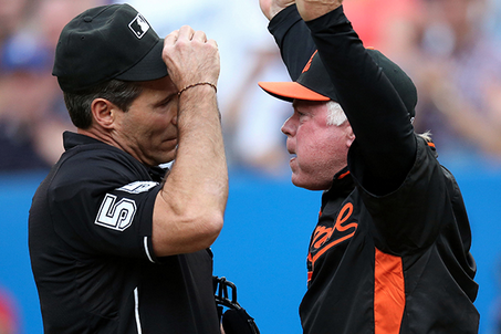 Orioles Skipper Buck Showalter Tries to Eject Umpires After Getting Tossed