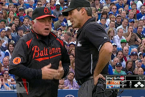 Orioles vs. Blue Jays Video: Watch Buck Showalter Toss Out Entire Umpire Crew