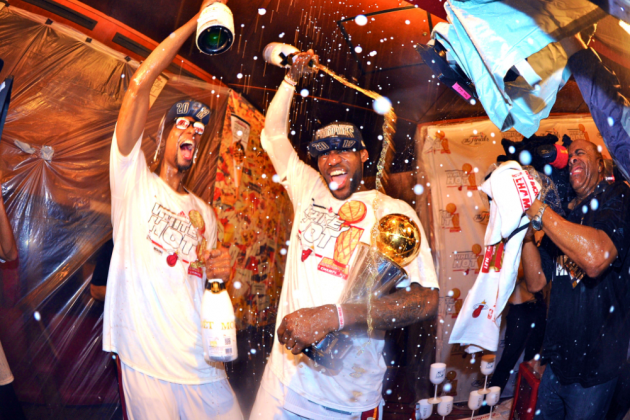 Miami Club Picks up Heat's $100K Champagne Tab After Game 7 of 2013 NBA Finals