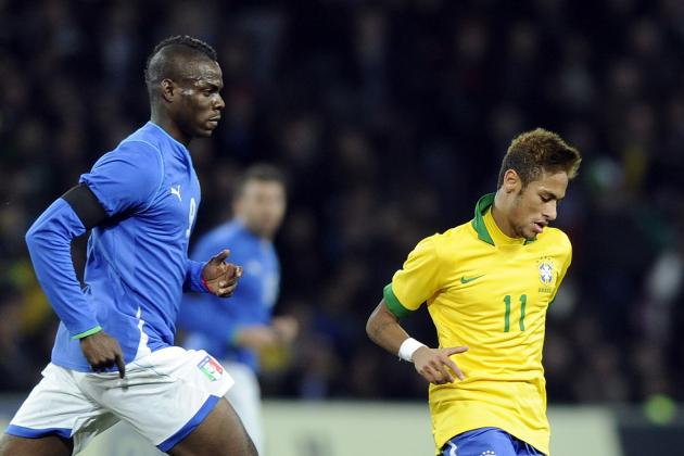 Brazil vs. Italy: Neymar vs. Balotelli Will Steal Show at Confederations Cup