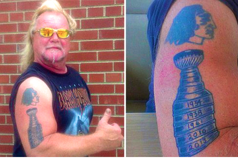 Cocky Hawks Fan's Tat Tempts Fate