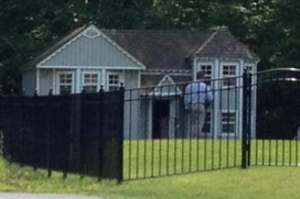 Aaron Hernandez's Dog House Is Huge