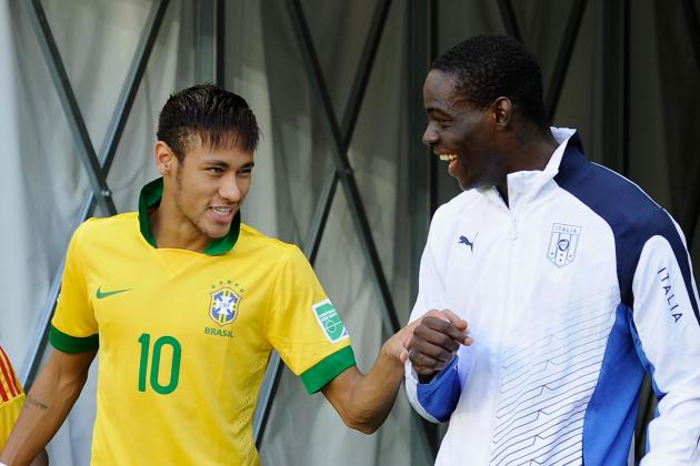 Neymar Outshines Mario Balotelli in Battle of Superstars at Confederations Cup