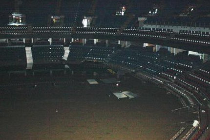Severe Flood Submerges Parts of Flames' Arena