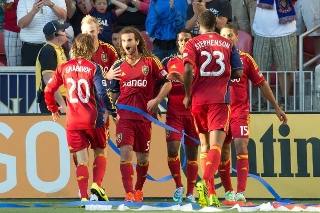 GOAL: Kyle Beckerman Pings the Underside of the Crossbar