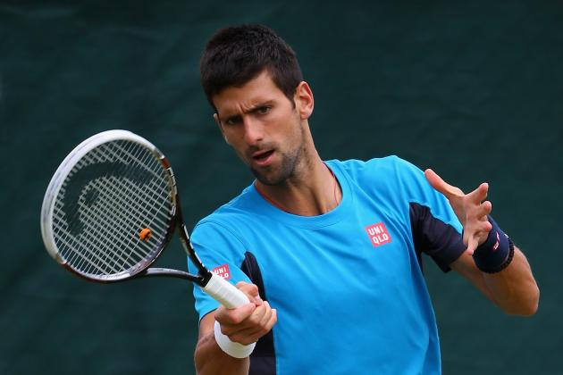 Djokovic Impersonates Sharapova in Front of Boyfriend at Wimbledon Warm-Up