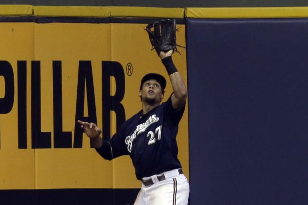 Carlos Gomez Leaves with Apparent Injury