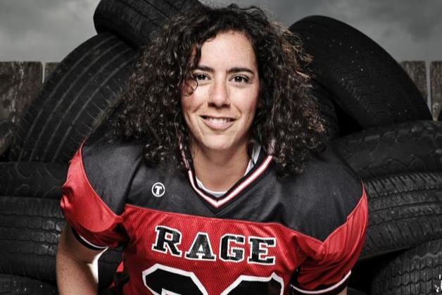 Amanda McKenna Patrols the Defensive Backfield for the Calgary Rage
