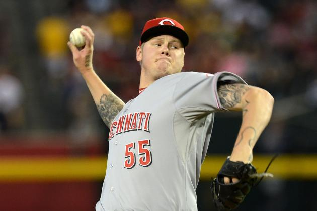 Latos Strikes out 13 as Reds Down D-Backs